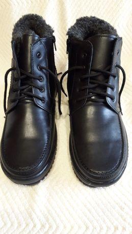 Ботинки кожаные зима.