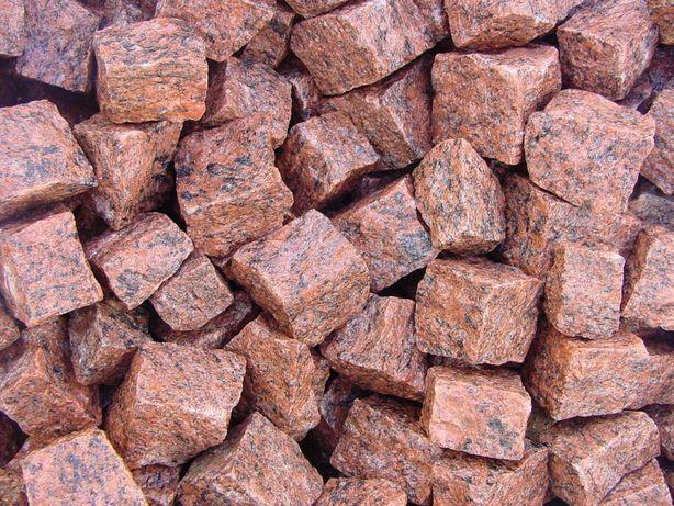 Kostka Granitowa Czerwona VANGA Grys Kamień Gabion Ogrodowy Ozdobny