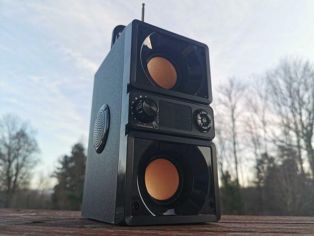 Boombox Kolumna Radio Głośnik BLUETOOTH Subwoofer Przenośny Budowlane