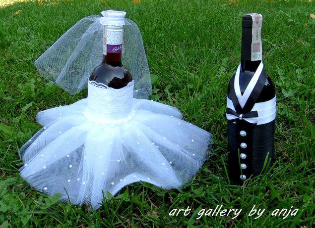Ubranka na butelki Para Młoda