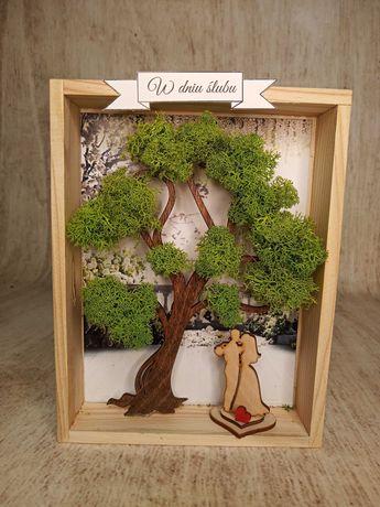 obraz 3d drzewo chrobotek ślub