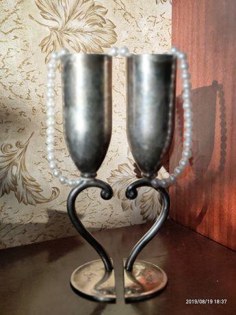 Мельхиоровые свадебные бокалы,торг