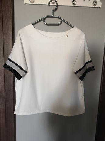 T shirt damski biały L