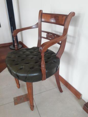 Fotel Antyk styl Angielski siedzisko 49x47 cm