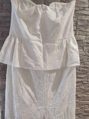 Sukienka biała /pretty girl/ rozm XL/ śliczna