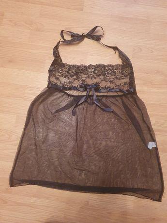 Śliczna seksowna koszulka nocna, czarna, nowa roz.uniwersalny s,m,l