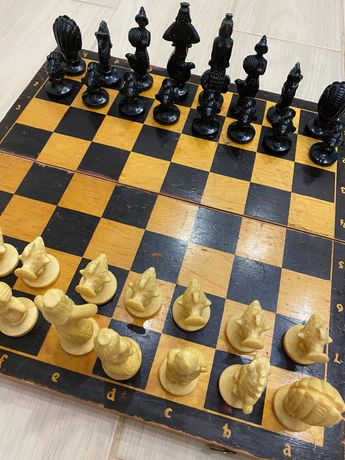 Шахматы шашки доска старинные ссср
