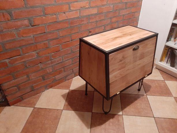 Barek industrialny/loft lite drewno dąb