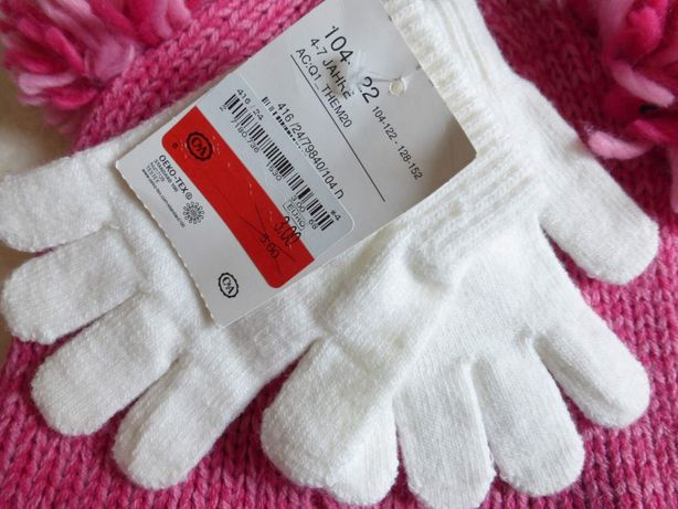 Перчатки 104-122 р, 4-7 лет от С&A Германия