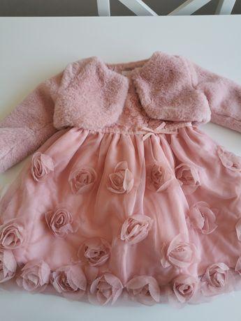 Piękna sukienka z bolerkiem r. 74