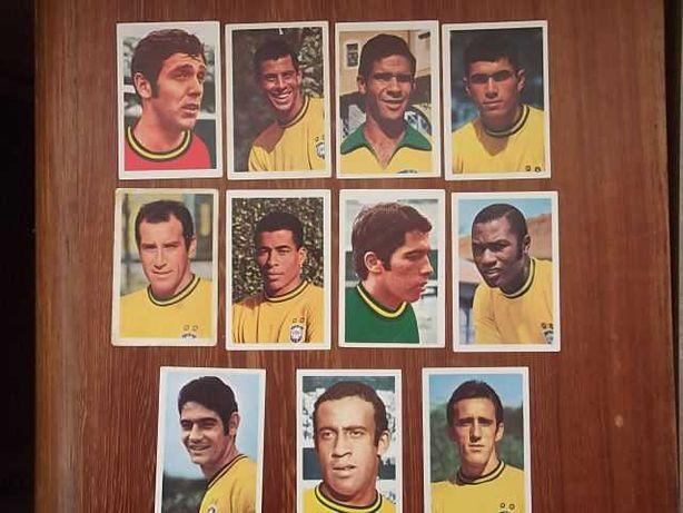 11 CROMOS Seleção BRASIL 70 CAMPEÃO MUNDIAL Rivelino/Tostão PALIREX