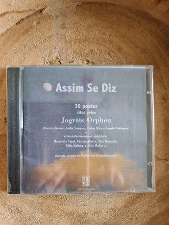 CD de poesia, ditos por jograis, contém poemas meus