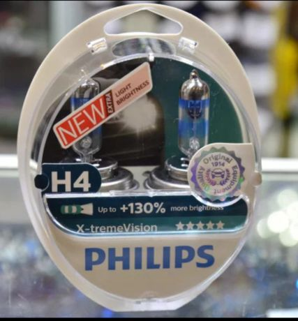 Лампа H4 Philips 60/55W X-treme Vision +130%