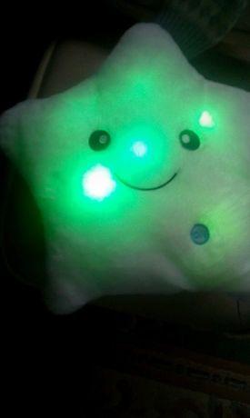 Poduszka LED gwiazdka