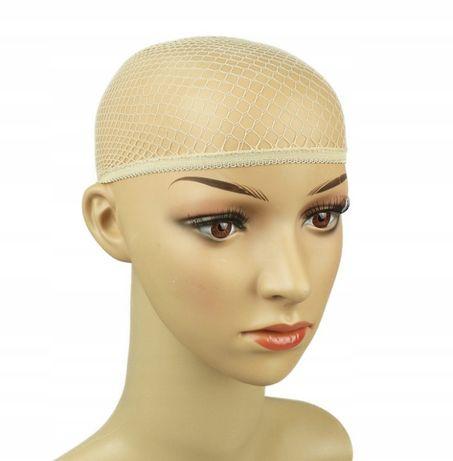 CZEPEK pod perukę siatka na włosy siateczka, kolor beżowy