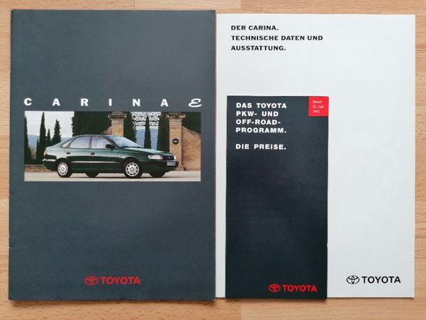 Prospekt TOYOTA Carina 1.6 2.0 XLi GLi sedan,liftback oraz 2.0 GTI