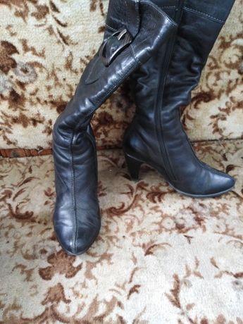 Зимові чоботи шкіряні на овчині