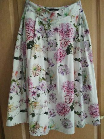 Spódnica Mohito MIDI  kwiaty rozkloszowana 34