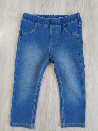Spodnie leginsy jeansowe H&M r. 86