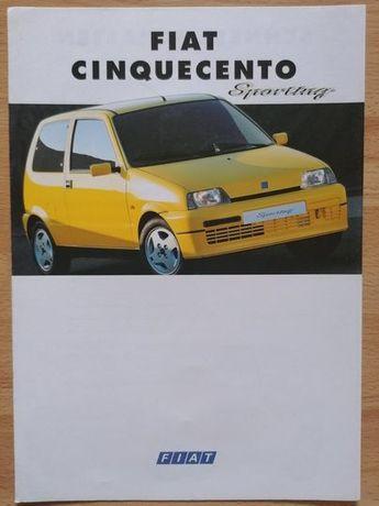 Prospekt Fiat Cinquecento Sporting