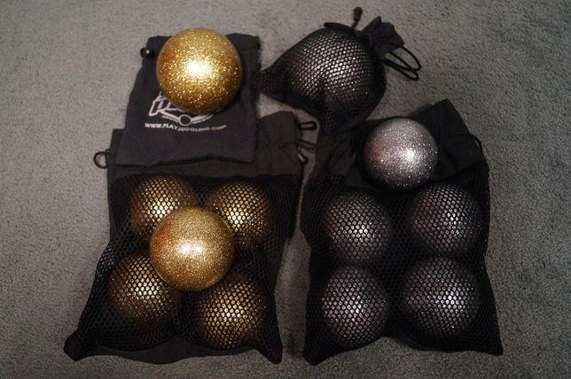 Piłki do żonglerki, żonglerki kontaktowej Play. Złote i srebrne
