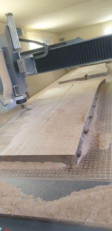 Stół dębowy monolit live edge wood massivholz lite drewno dąb blat