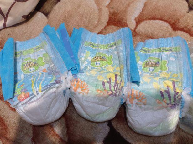 Отдам памперсы для купания плавания Huggies