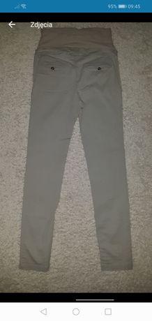 Spodnie ciążowe H&M beżowe materiałowe 38 M