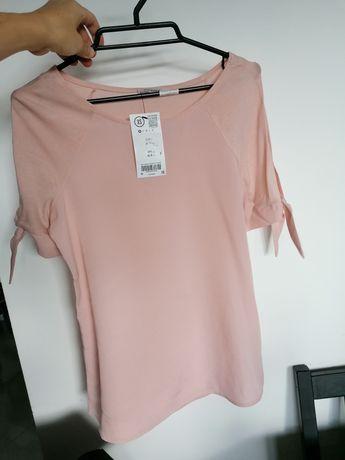 Orsay bluzka z wiązanymi rękawami, różowa XS, 34