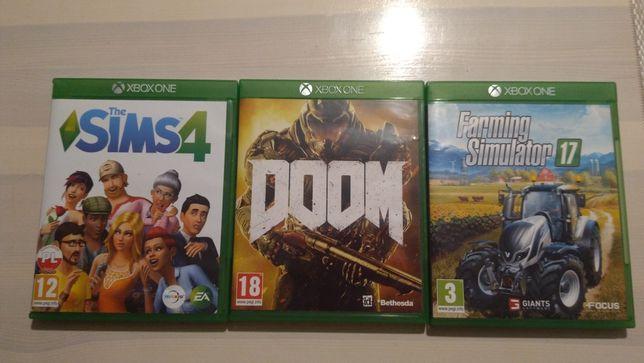 Gry Xbox one  The sims 4, Doom,Farming Simulator 17