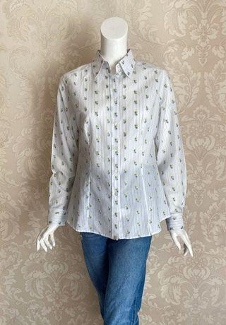 Etro Италия оригинал дизайнерская классическая рубашка белая вышивка
