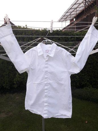 Biała elegancka koszula 146 długi rękaw 5.10.15