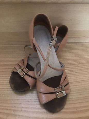 Танцевальные туфли блок-каблук Galex