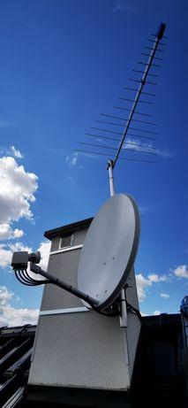 Montaż anten satelitarnych i naziemnych, ustawienie sygnału, serwis
