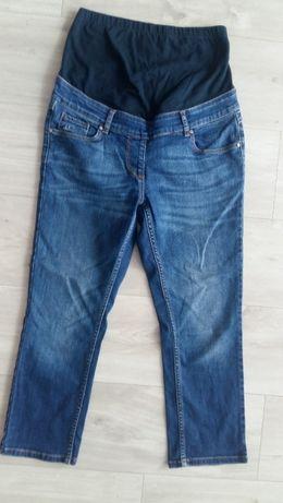Spodnie jeansy ciążowe 7/8 elastyczne r.S/M
