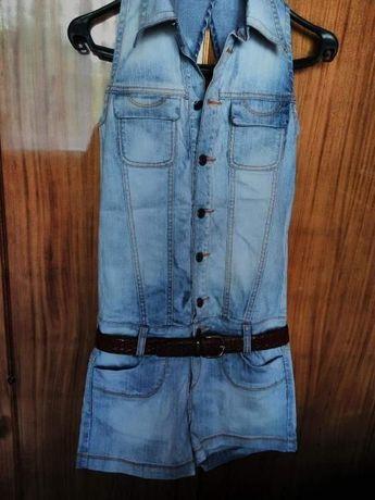 Ромпер Necessary комбинезон джинсовый шорты (S)