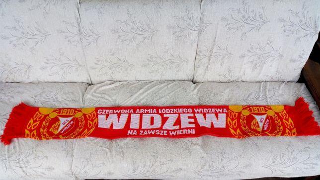 Szalik szal piłkarski kolekcjonerski Widzew Łódź sportowy
