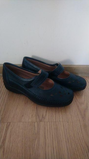 Итальянские женские кожаные туфли ортопедические ANTI-SHOCK