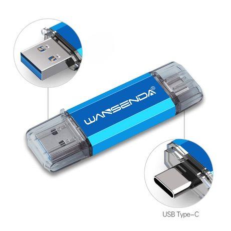Флешка 2в1 USB OTG подключение к смартфону/ Type-C USB 32 GB новая