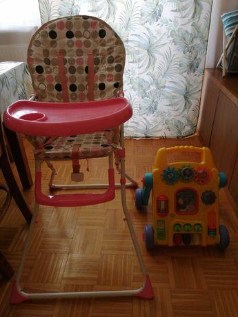 Krzesełko do karmienia +jezdzik-stolik