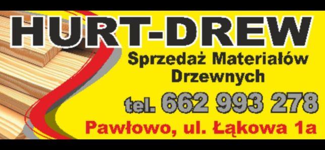 HURT-DREW  kantówki podbitka boazeria deski tarasowe podłogowe łaty