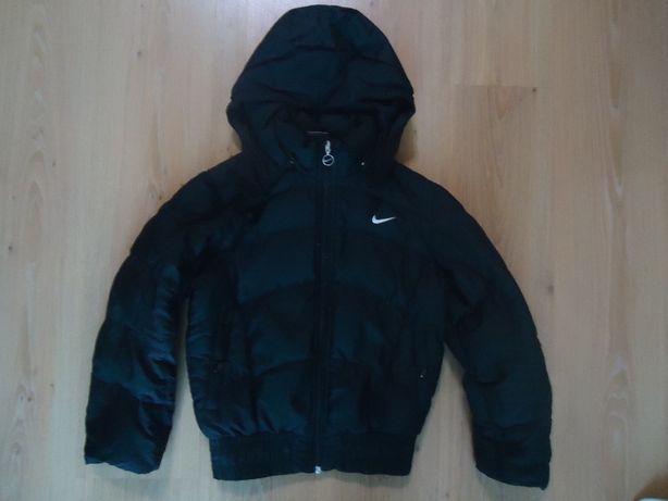 "Куртка зимняя, тёплый пуховик ""Nike"" на мальчика 8-9 лет, 100% пух."