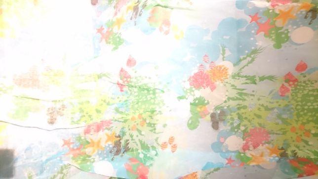 Firanka dziecieca Ikea 150 x 230cm Rybki Woda Ocean