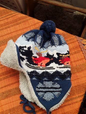 новогодние зимние теплые детские шапки на 4 ,5 6 ,7 лет