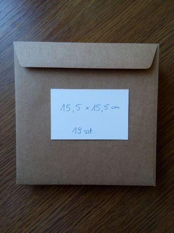 Koperty eco kwadratowe, 19szt = 28zł