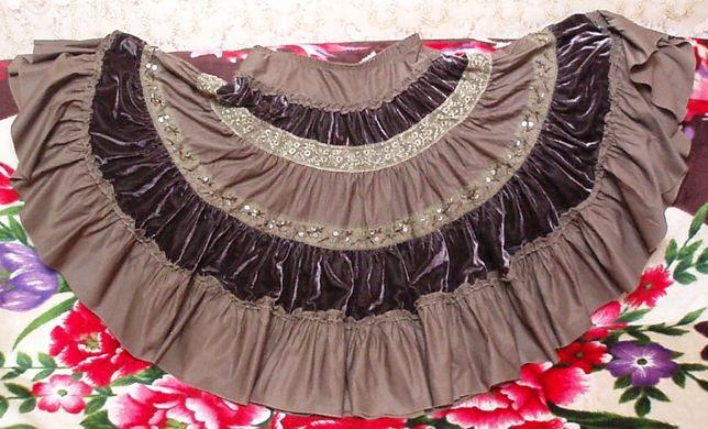 """Пышная широкая юбка-""""солнце"""", 48-50 размер"""
