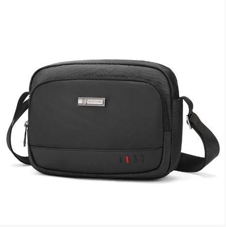 Небольшая сумка через плечо Arctic Hunter K00059, 4л (Черный/Серый)
