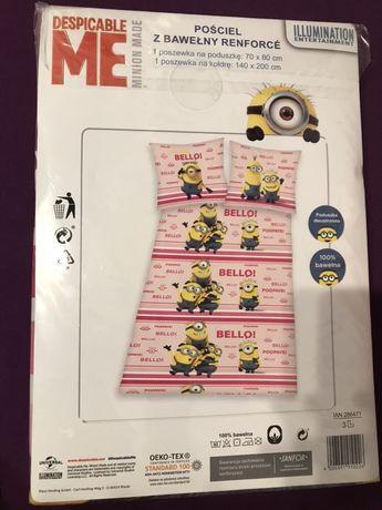 Nowa pościel z bawełny 140 200 Minionki Minions