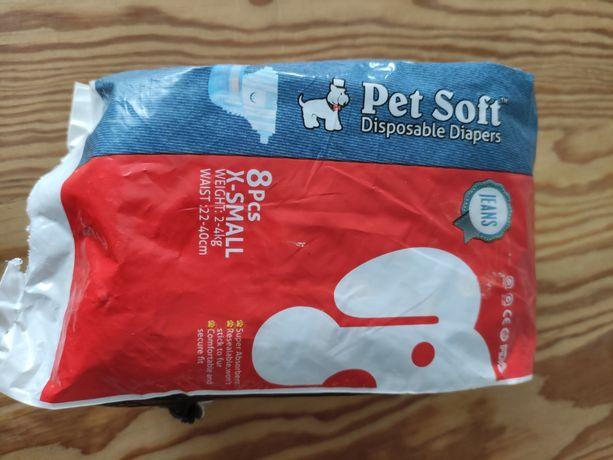 Pampersy dla psa małe 2-4 kg Pet Soft wzór jeans