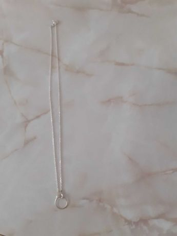 Naszyjnik srebrny otwarte kolko